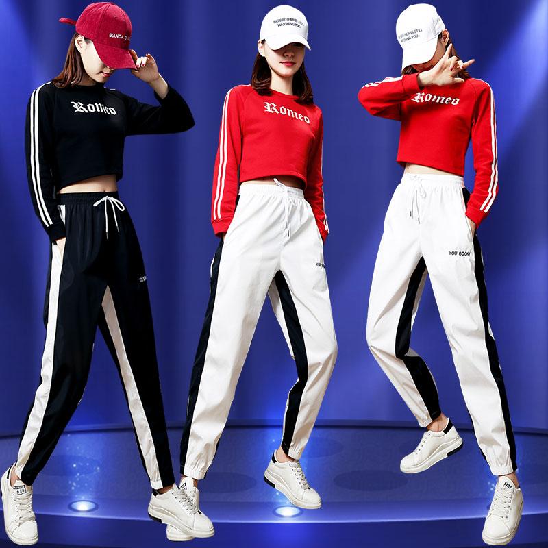 韩版爵士舞服装女成人年会舞蹈表演鬼步舞ds现代嘻哈街舞服练功服
