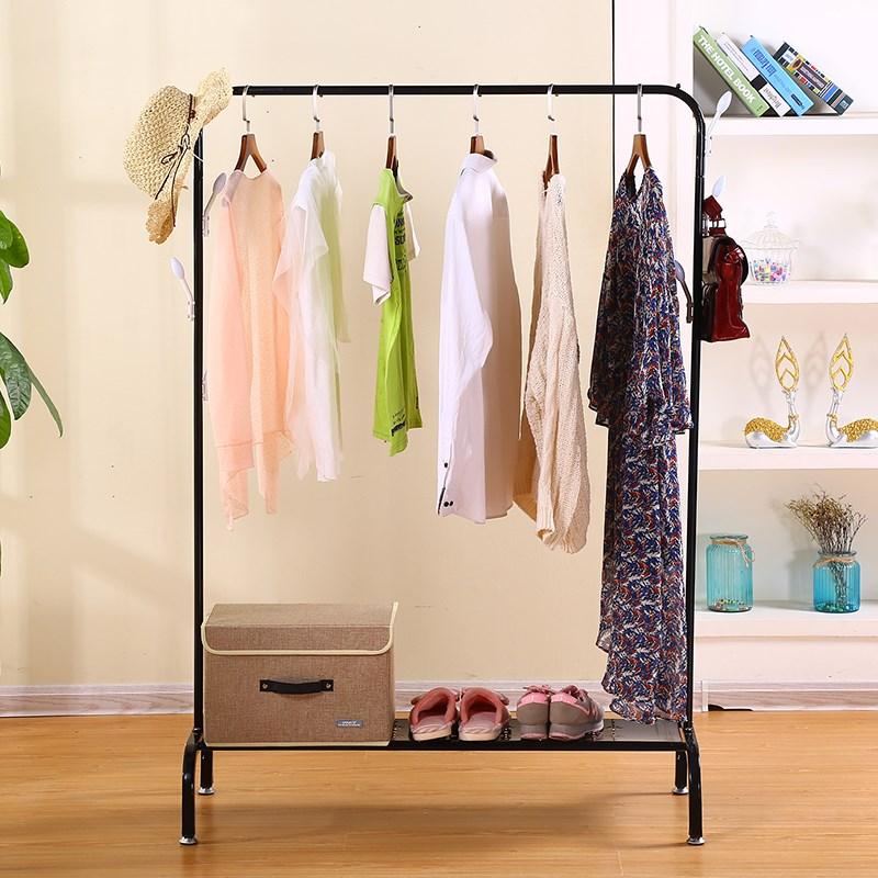 单杆晾衣架落地卧室内挂衣架阳台晒衣架懒人简易凉衣杆挂架子
