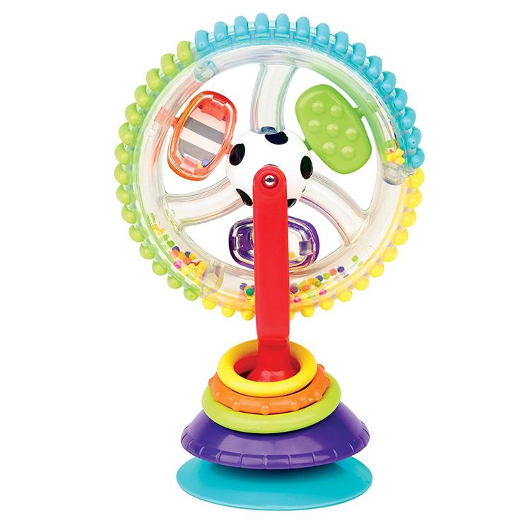 海外进口玩具正品现货sassy宝宝婴幼儿童吸盘餐桌风车摩天轮礼物