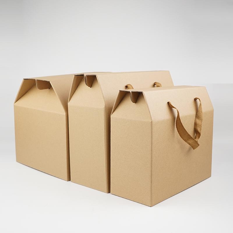 农土特产手提绳纸箱礼品盒水果年货食品外盒干货箱子粽子手提盒