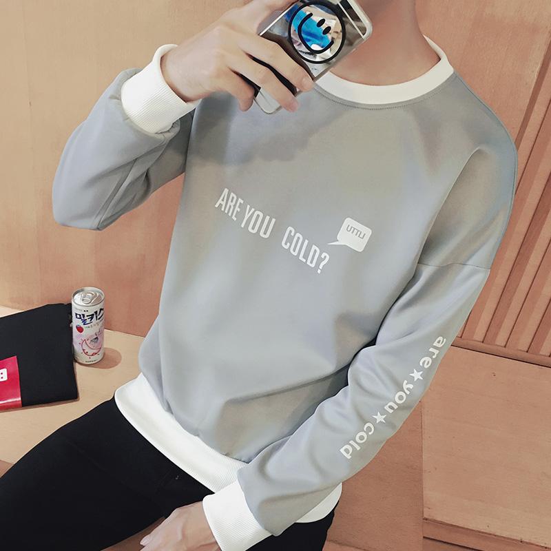 秋装男士长袖t恤韩版青年春秋上衣打底衫外套学生卫衣男秋衣服潮