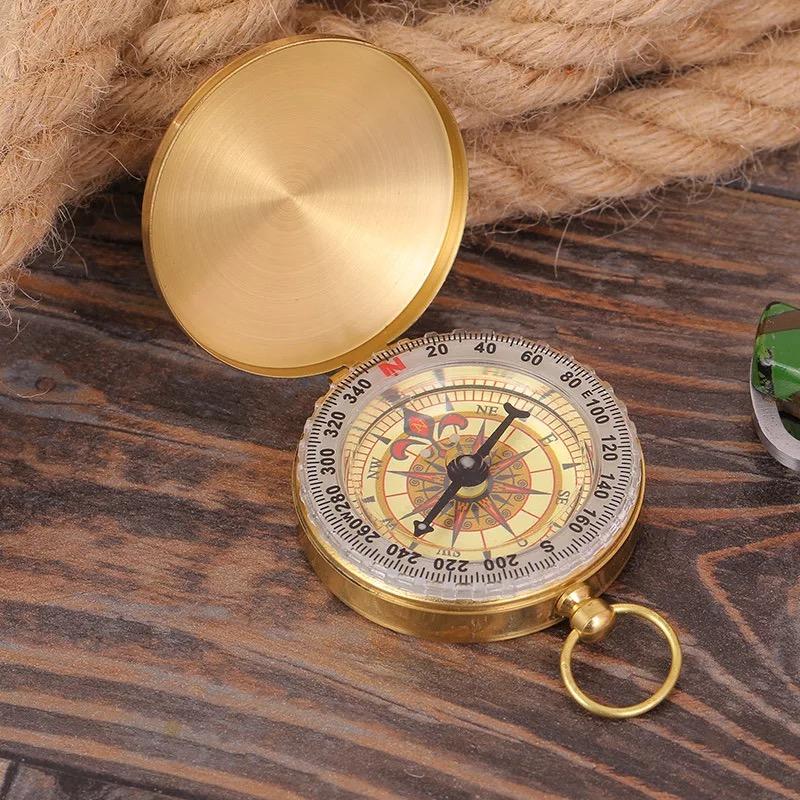 防水指南针户外指北针夜光镜反光指南针探险野外求生怀表式指北针