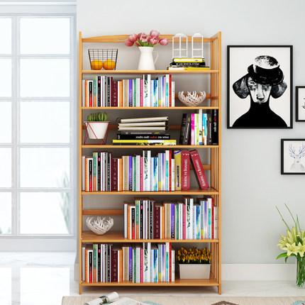 书柜书架置物架简易桌面桌上小书架落地简约现代实木学生儿童书架