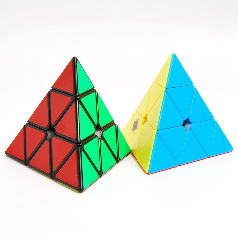 魔域金字塔魔方异形初学者魔方套装魅龙三角魔方斜转镜面益智玩具