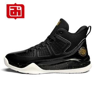 艾弗森篮球鞋男夏季透气2020新款减震耐磨中帮运动鞋男士黑色球鞋图片