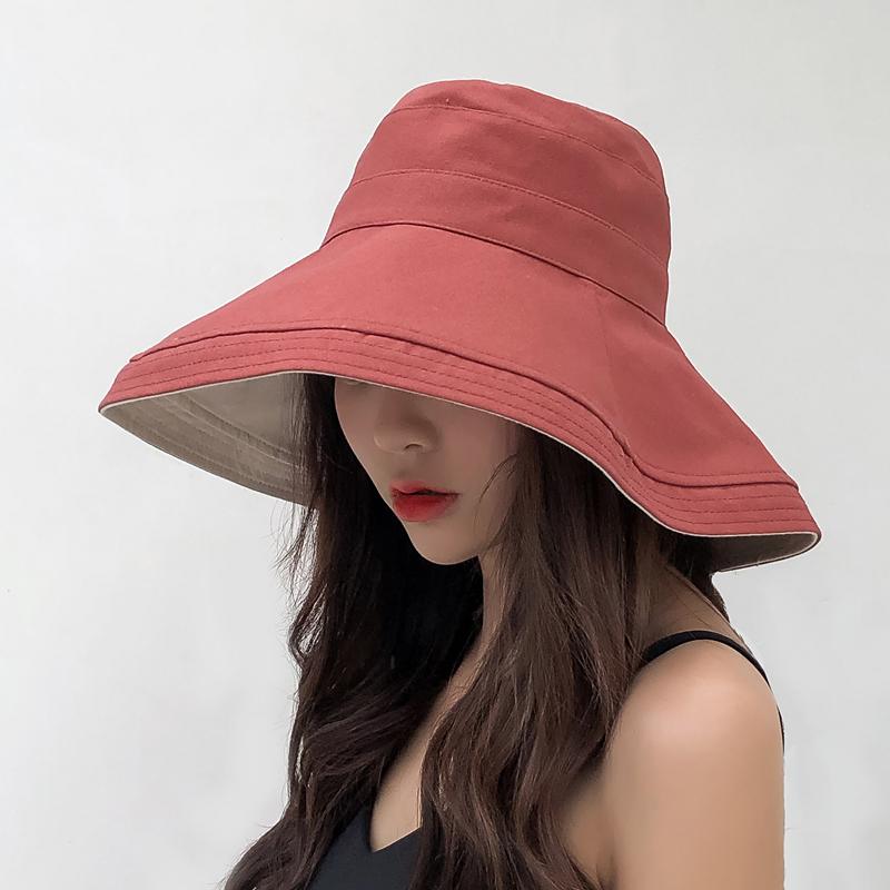 渔夫帽女夏韩版百搭日系防紫外线遮脸帽子太阳帽遮阳帽夏天防晒帽