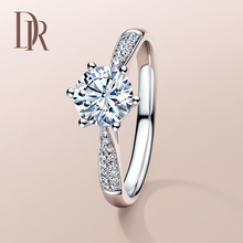 DR DARRY RING One-carat Diamond Ring Customization Counter Authentic Jewelry Six-claw Marriage Proposal Ring