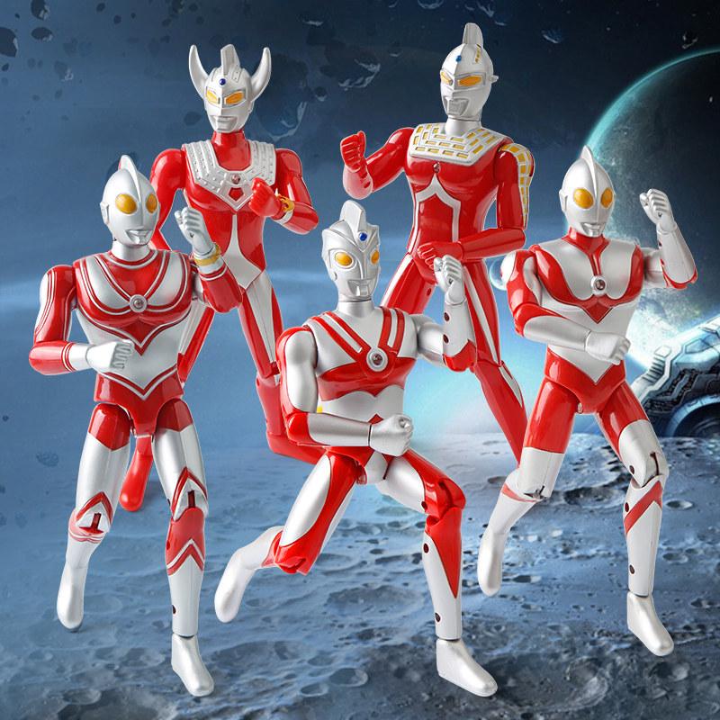 奥特曼玩具正版儿童套装初代赛罗超人多关节可动人偶怪兽蛋男孩