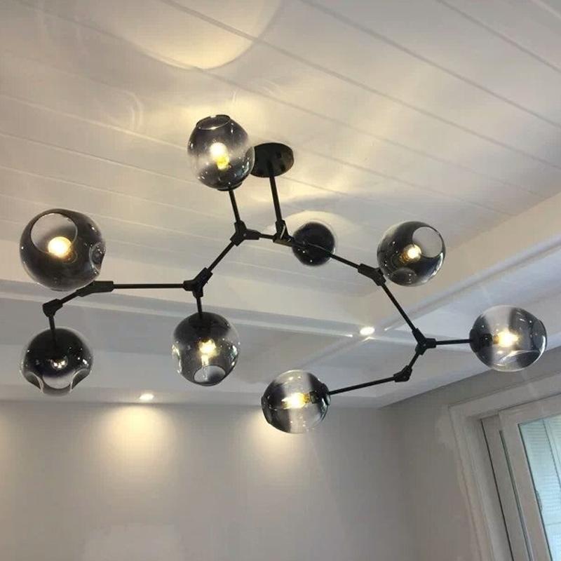 北欧灯具客厅吊灯餐厅 Lindsey后现代分子灯魔豆灯创意个性客厅灯