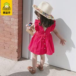 小女童洋气连衣裙夏装2020新款婴儿童纯棉背心裙宝宝韩版公主裙子