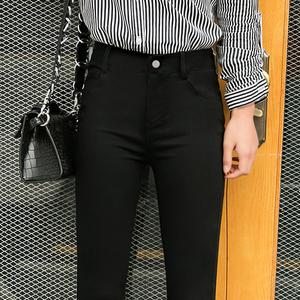 魔术黑色打底裤女裤外穿春秋冬加绒小脚2019新款高腰显瘦百搭黑裤