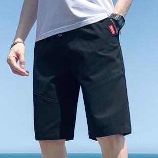 夏季夏天男士休闲短裤潮韩版沙滩马裤宽松5分五分裤中裤7分裤七分