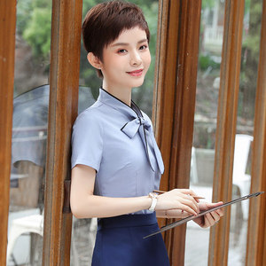 Xia Waner hotel overalls female spring and summer dress catering waiter front desk cashier pedicure technician uniform