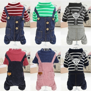 Pet clothes dog clothes autumn and winter new teddy VIP pomeranian puppy costume four-legged clothes