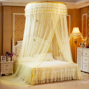 Dome ceiling mosquito net 1.5m1.8m bed double household floor court 1.2 meters princess wind free installation bed curtain