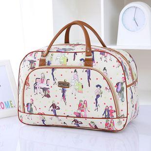 包邮新款旅行包女手提大容量行李包PU皮短途旅行袋商务旅游包韩版图片