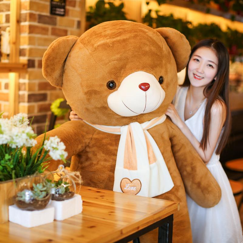 咖啡色圍巾熊