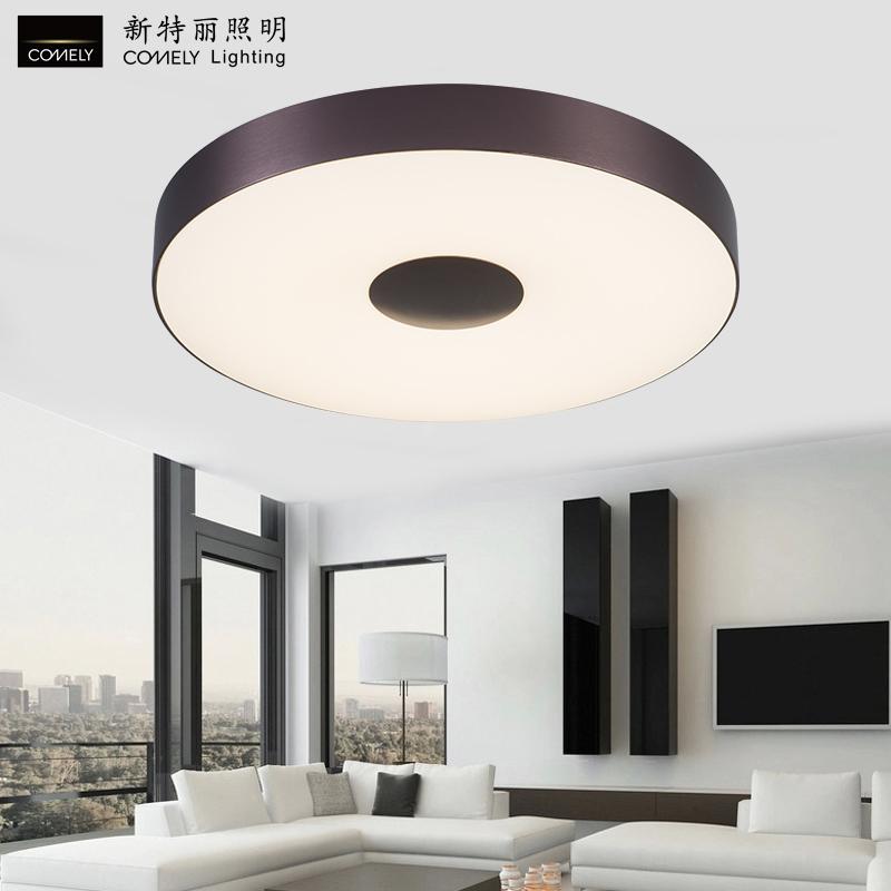新特丽吸顶灯led客厅灯圆形温馨卧室灯具个性创意 现代简约灯和田