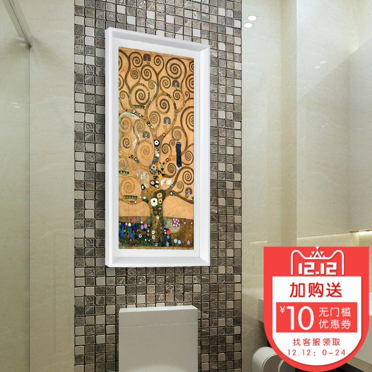 卫生间装饰画客厅餐厅玄关壁画浴室厕所淋浴房防水挂画免钉艺术画