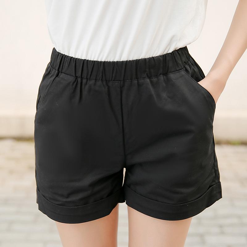 纯棉短裤黑色