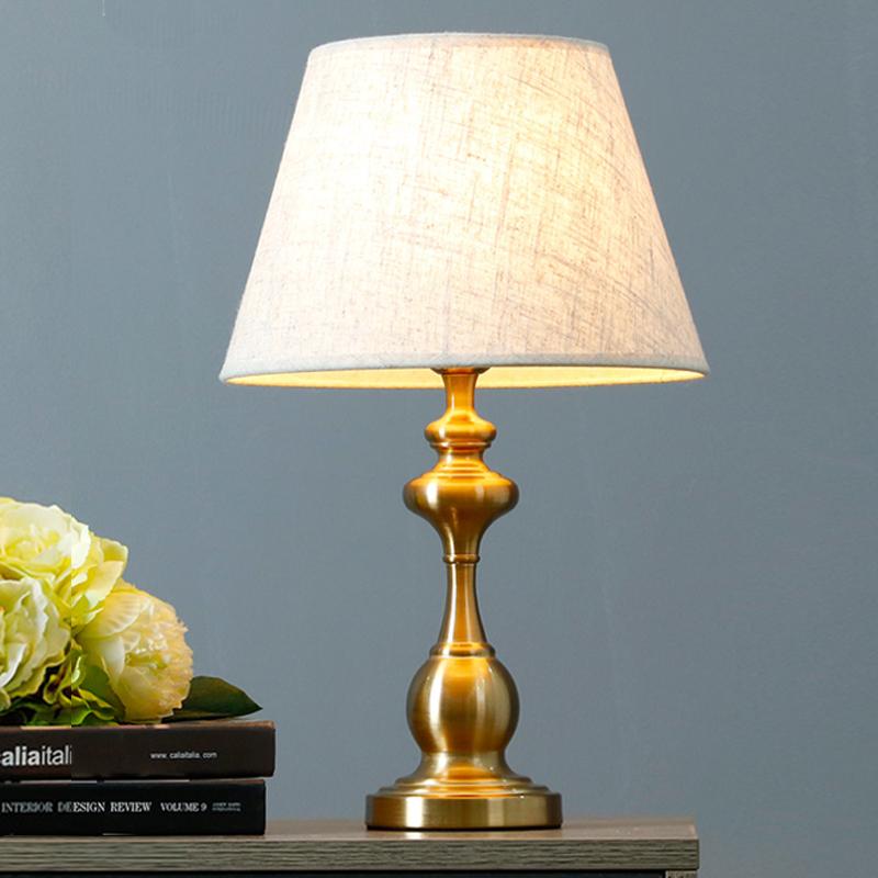 御天美式台灯卧室床头灯简约现代创意浪漫暖光床头柜台灯触摸温馨-御天旗舰店