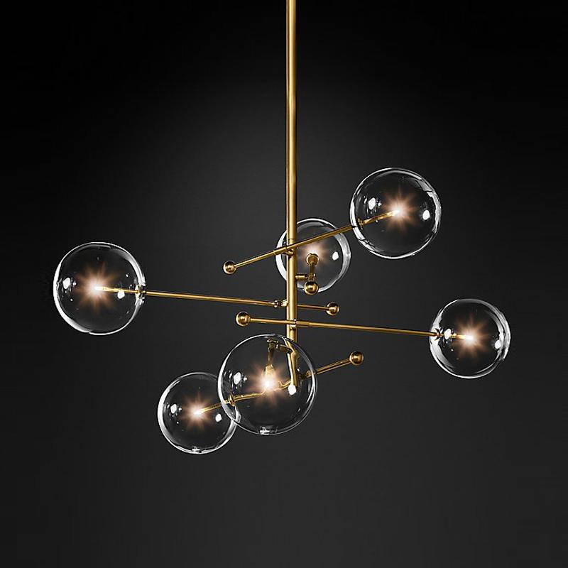 北欧创意玻璃球吊灯 现代简约客厅吊灯 酒店复式楼卧室餐厅吊灯_赛通灯饰工厂店