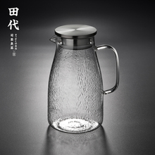 田代/io0indoby玻璃 透明冷水壶瓶果汁壶水杯水具套装