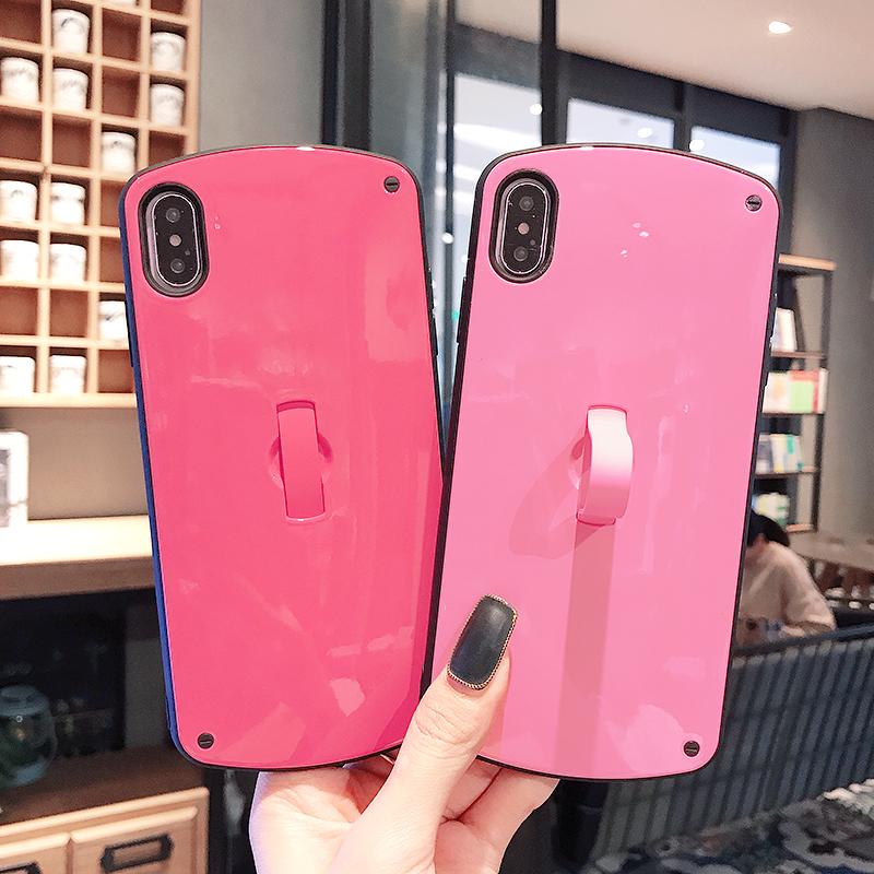 苹果 手机 简约 纯色 指环 支架 个性 创意 保护套 新款