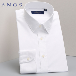 ANOS fall men's white shirt long-sleeved business professional suits non-iron shirt Korean tooling Slim-type shirt