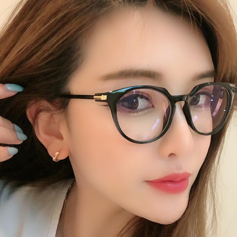 防辐射眼镜女平光镜大框男无度数防蓝光手机电脑眼镜框个性网红款