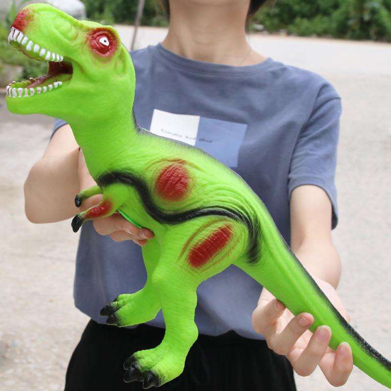 软胶仿真超大恐龙玩具儿童大号硅胶霸王龙三角龙动物模型男孩礼物