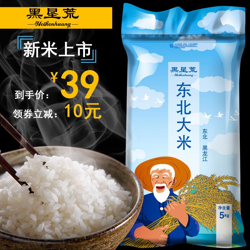 大米5kg 东北大米10斤长粒香北大荒当季新米煮饭香米非五常稻花香