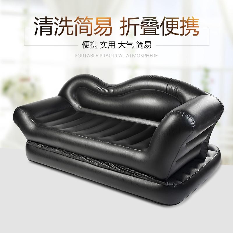 曼芙雅可折叠充气沙发床双人家用客厅简易单人便携懒人气垫床网红