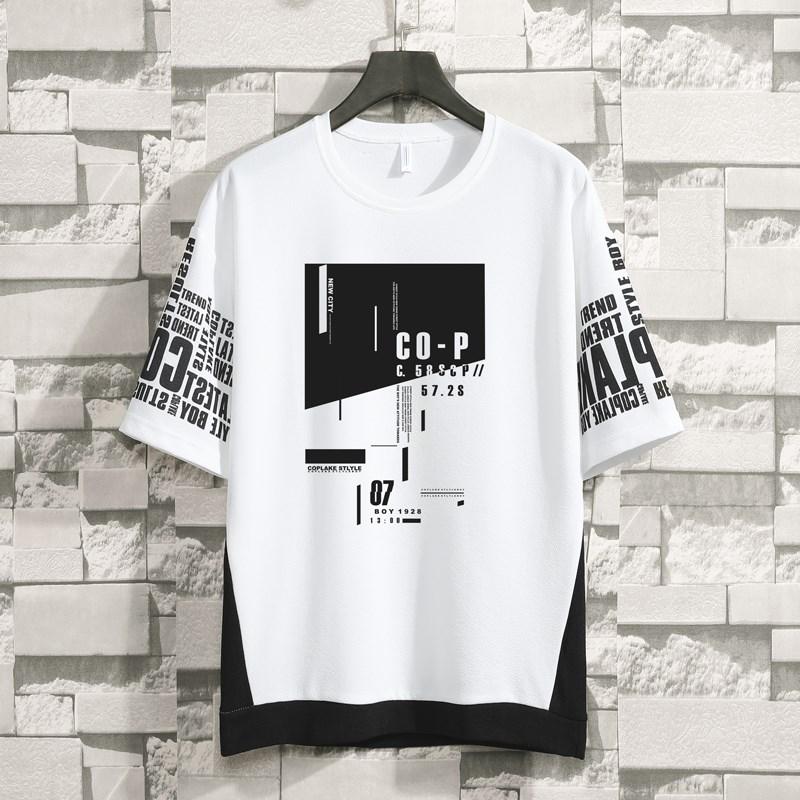 短袖t恤男夏季2019新款潮流青少年高中学生衣服男半袖宽松上衣薄