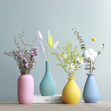 创意干花瓶北欧摆件dq6厅插花陶na代(小)清新家居装饰品