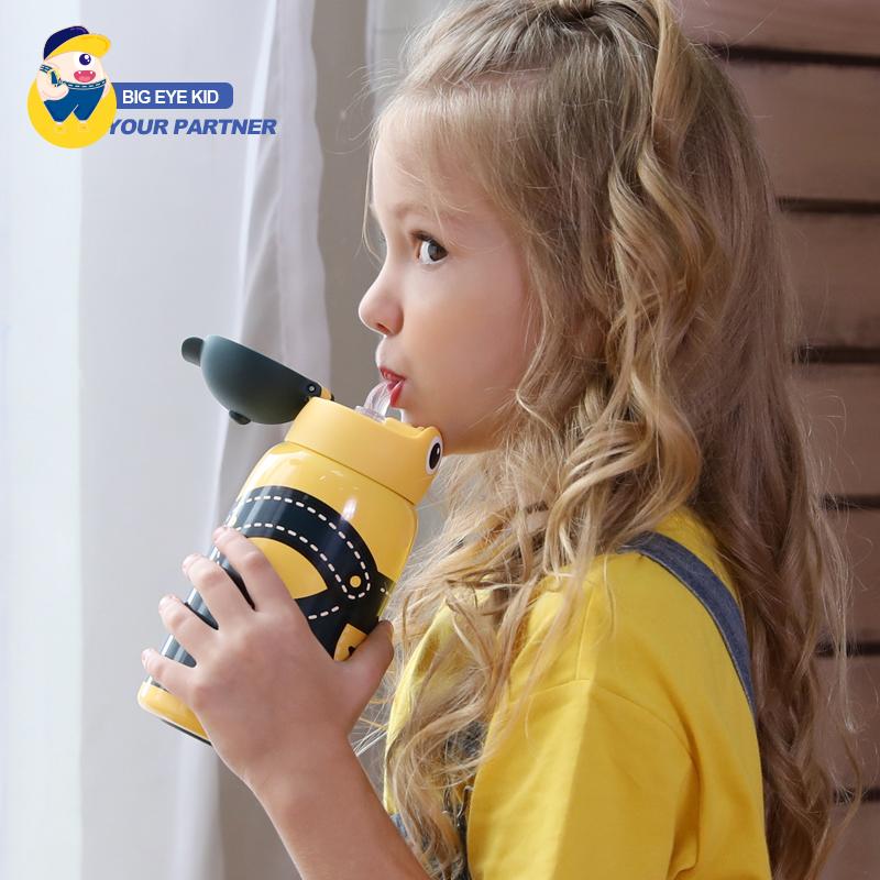 瑞典cica儿童保温杯带吸管两用幼儿园防摔宝宝小孩小学生喝水壶
