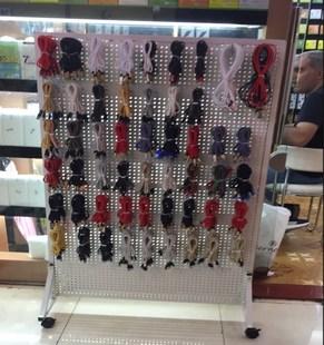 新款手机配件柜展示架上挂钩靠墙饰品数码产品展示柜置物货架