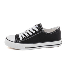 Huili black canvas shoes female students spring new women's shoes