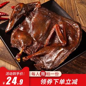 湖南特產常德長沙正宗手撕醬板鴨香辣風干烤鴨美食熟即食零食小吃