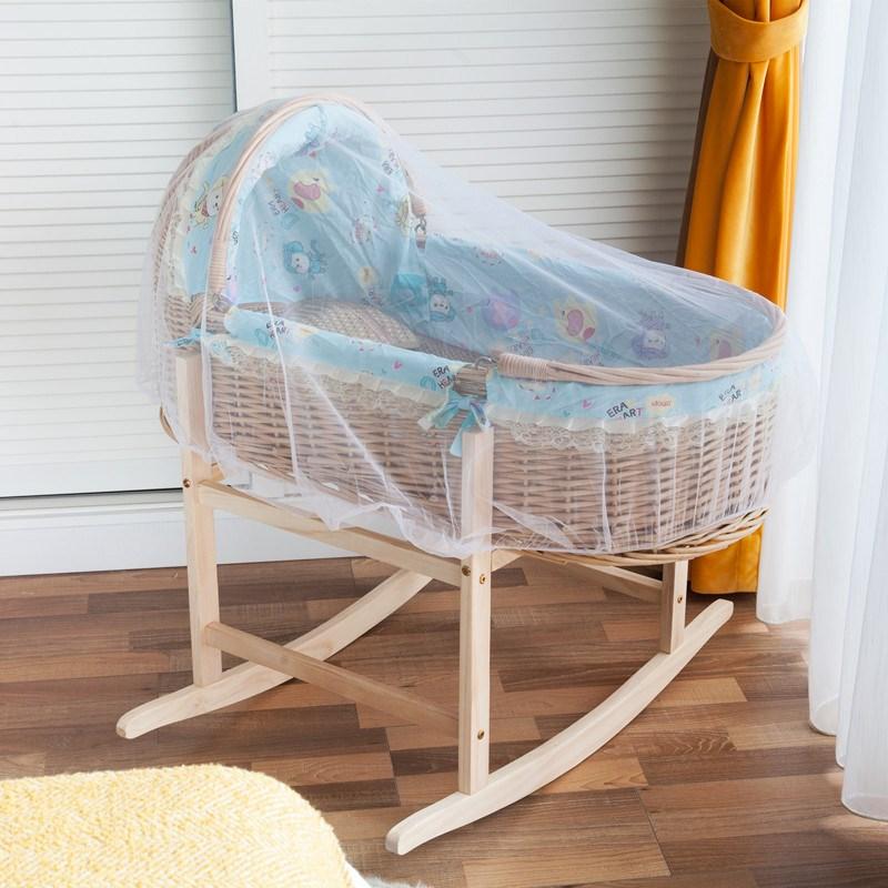 宝宝摇篮婴儿摇篮床摇摇床老式婴儿摇床藤编新生儿睡篮安抚小摇蒌