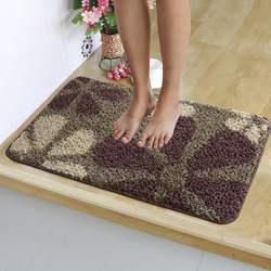 卡通可爱厕所浴室防滑吸水地垫进门口洗手间卫生间踩脚垫脚印地毯
