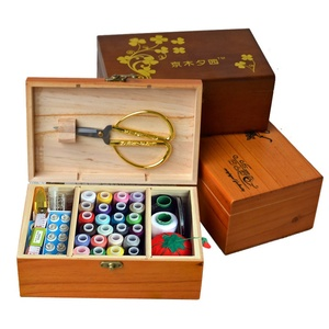 Full set of hand-stitched diy home cloth solid wood needle box set sewing 12 pieces of cross stitch tool storage box