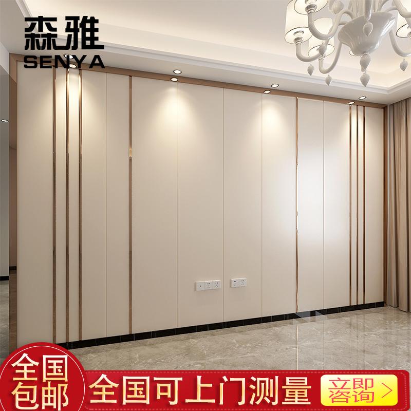 现代简约客厅硬包电视背景墙方形卧室床头人造革轻奢硬包背景墙