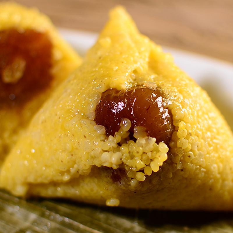 黄米粽子纯手工蜜枣网红年货礼盒豆沙大枣大黄米红豆端午节甜粽子