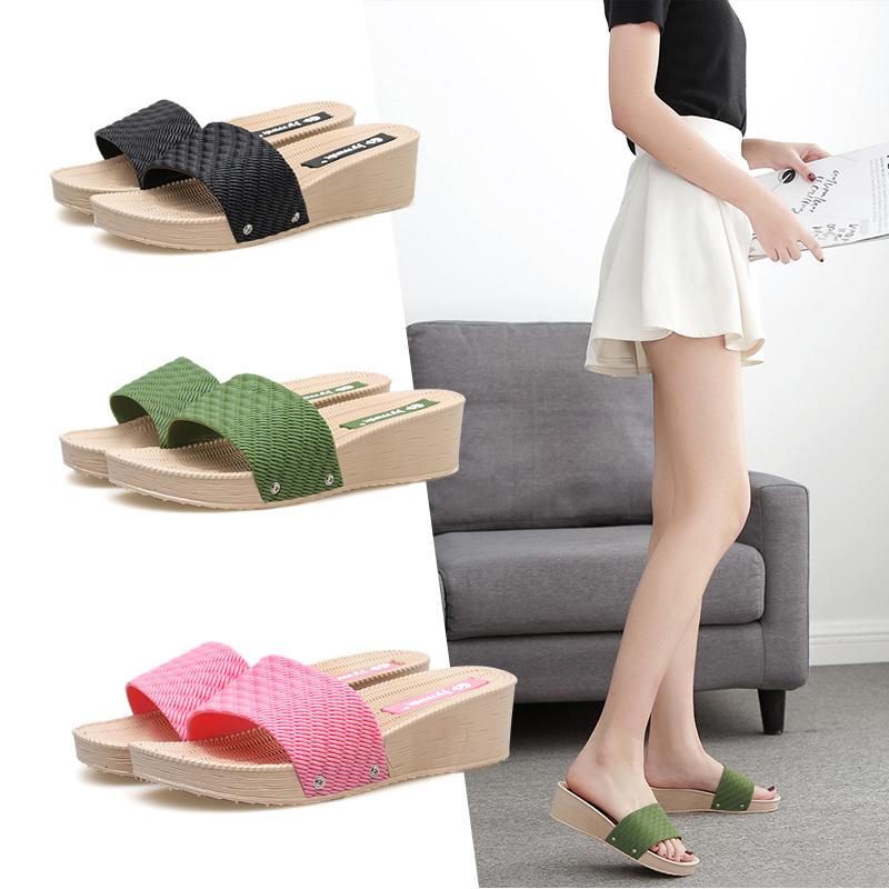 网红拖鞋女外穿夏韩版厚底高跟凉拖鞋时尚坡跟百搭ins一字拖户外