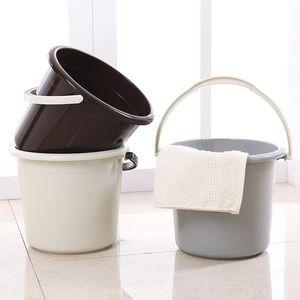 塑料水桶加厚灰色简约储水桶结实耐用家居厨房接水桶2019新款实用