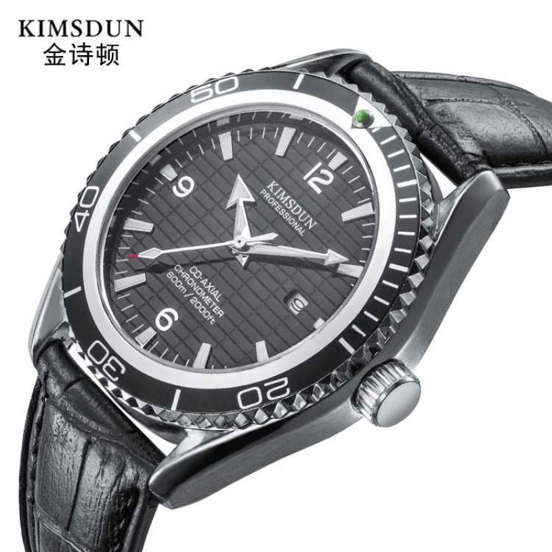 时尚流行女士腕表金诗顿品牌手表皮带简约休闲男表夜光防水石英表