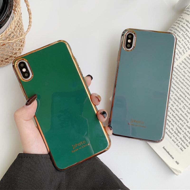 翠绿色高雅灰新电镀苹果X手机壳iPhone11pro Max创意7plus软壳XR苹果xs max个性8plus潮iphoneX网红6s男女款