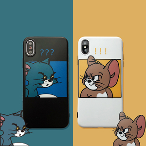 Couple cat and mouse xsmax Apple 11 mobile phone case iPhone8plus / X soft cover 7P men and women 6s cartoon 11pro protective cover iPhoneXR silicone 11pro max shatter-resistant cute