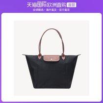 香港直邮LONGCHAMP黑色手提单肩包 女款手提包